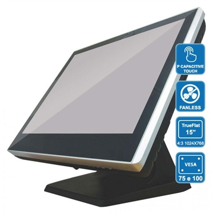 "POS CZAR PH8100 QC J1900, 4Gb, SSD120, 15"" tFlat Touch - PCZAR4GB120SSD-C"