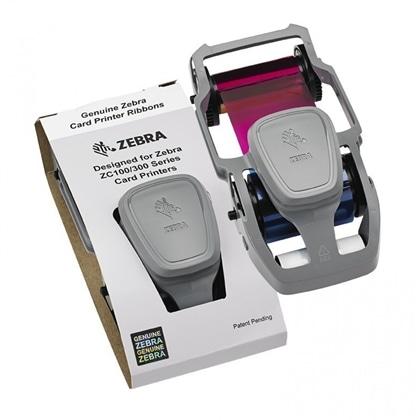Cassete Fita Cores 5 Painéis p/ Zebra ZC300 - 20717065